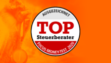 Focus Money zeichnet uns mit Top-Steu­er­be­rater-Siegel 2020 aus